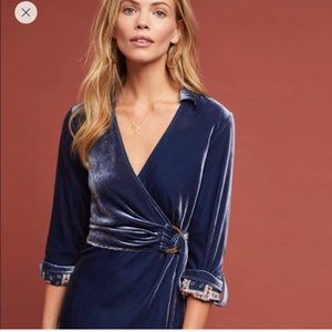 Maeve velvet wrap dress . Brand new with tags.